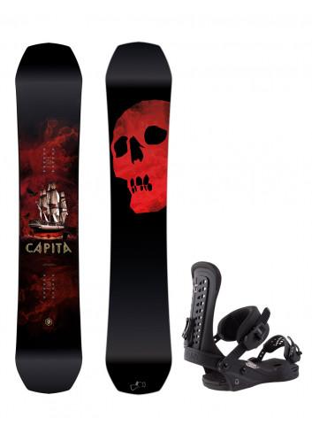 Zestaw Capita Black Snowboard of Death 159 + Union Force L