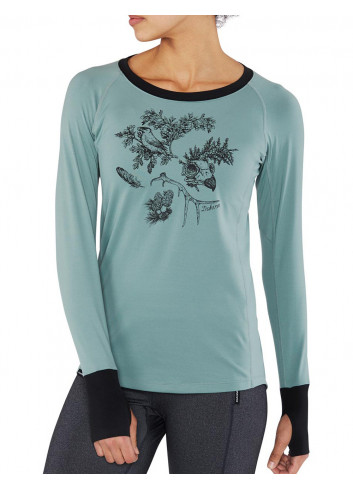 Damska koszulka termoaktywna DAKINE LUPINE COASTAL/BLACK